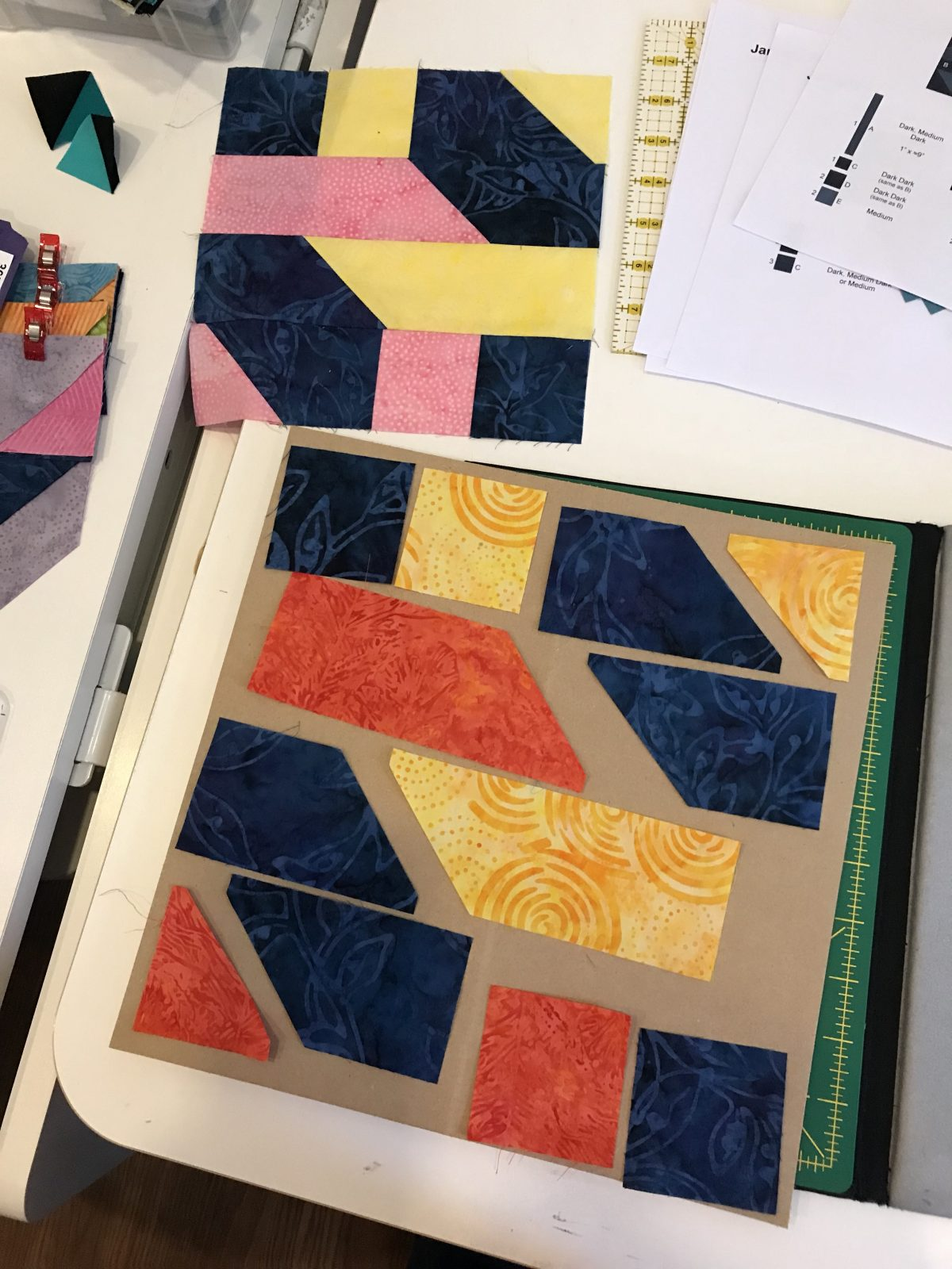 Quilt Diary:  March Progress