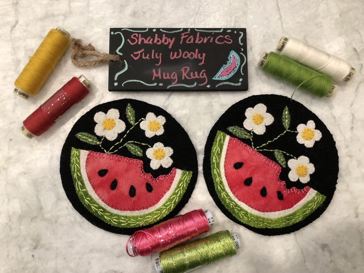 Quilt Diary: Watermelon Mug Rugs! done in Utah