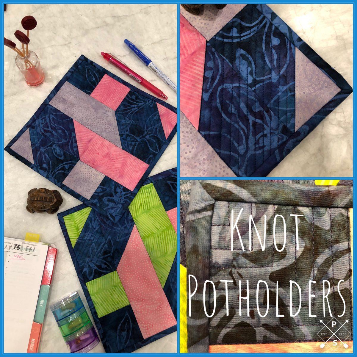 Quilt Diary: Knot & Dresden Potholder finish!